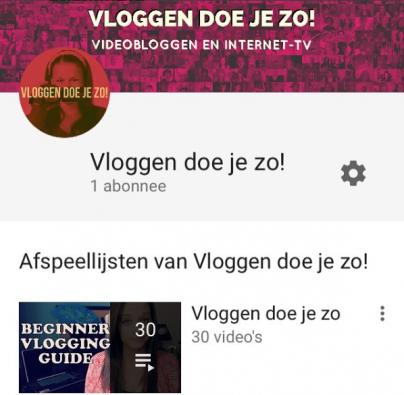 Ons kanaal op YouTube